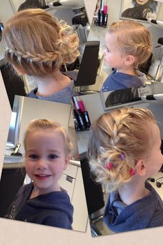 Hair -Haare Trendfrisuren William, akkurater Mittelscheitel oder People from france Cut Cease to live Dance Hairstyles, Flower Girl Hairstyles, Princess Hairstyles, Little Girl Hairstyles, Pretty Hairstyles, Braided Hairstyles, Wedding Hairstyles, Bridesmaid Hair, Prom Hair