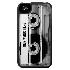Clear Cassette Tape Personalized iPhone 4 Cases