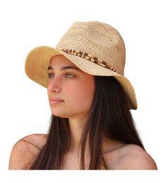 f625804c519 Belize Women s Beaded Raffia Sun Hat (Natural) CM12H526W5J