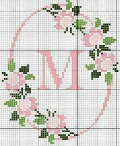 Crossstitch letter M