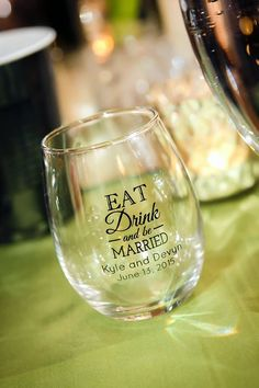 Get personalized glassware for your special event!