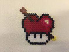 perler bead mushroom Love - by Bjrnbr perler,hama,square pegboard,video games,nintendo, super mario bros,mushroom,