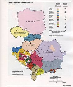 Ethnic Groups in Eastern Europe 1993: my grandfather's village is now in Serbia; my grandmother's village is now in Romania. Both grandparents were German-speaking.