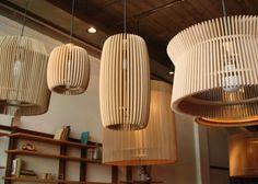 Net muebles - Alejandro Sticotti : lámpara colgante madera