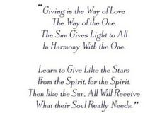 Way of The One  #giving, #harmony, #spirit, #soul