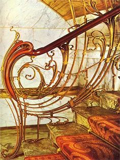 Solvay House banister by Victor Horta, Brussels (as i said, from bridges to stairways Art Deco changed everything here and internationaly)