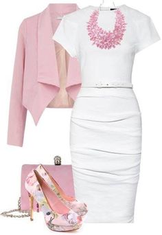 Love this outfit! Beautiful, classic, pink ... Spring ... Easter dinner out