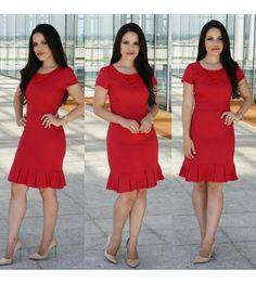 0095 - Vestido Executiva - Floratta Modas