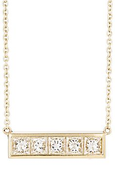 We Adore: The White Diamond Bar Pendant Necklace from Jennifer Meyer at Barneys New York