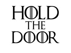 Hold the door game of #thrones #vehicle car #decal sticker laptop wall art, View more on the LINK: http://www.zeppy.io/product/gb/2/112210641868/