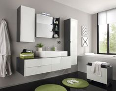 Modern bathroom furniture - Best Home Decorating Ideas - How To Design A Room - homehomedecor Cheap Bathrooms, Beach Bathrooms, Grey Bathrooms, Modern Bathroom, Black Bathroom Sets, Grey Bathroom Vanity, Bathroom Vanities, Bathroom Furniture, Home Furniture