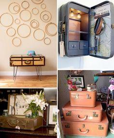 Inspiration Relooking et détournement : valises vintage