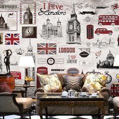 11.99$  Buy now - http://alitw4.shopchina.info/go.php?t=32808663034 - European Retro London Wall Mural 3D Poster Murals Wallpaper for Living Room TV Background House Decor Painting Wall Paper Mural 11.99$ #magazineonlinebeautiful