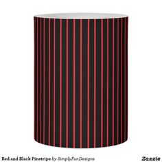 Red and Black Pinstripe Flameless Candle