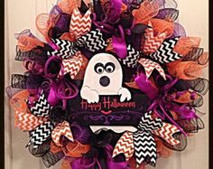 Halloween Trick or Treat Grapevine Mesh by CoyoteCountryMarket