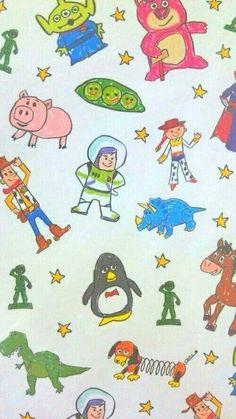 รูปภาพ toy story, disney, and wallpaper Cartoon Wallpaper, Disney Phone Wallpaper, Iphone Wallpaper, Phone Backgrounds, Art Disney, Disney Toys, Disney Pixar, Disney Films, Toy Story Birthday