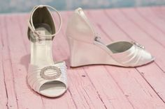 Wedge 3 Inch Wedding Shoes Choose From Over 150 Colors by Parisxox