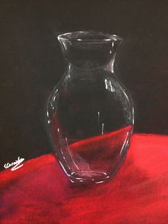 White charcoal and pastel 9th grade