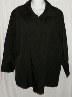 Cato Black Size 18/20w Shirt Top Blouse Hidden Buttons Shirt  #Cato #Blouse…