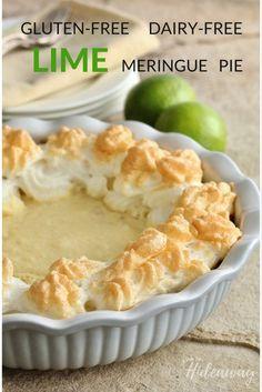 Paleo Gluten-Free Dairy-Free Lime Meringue Pie http://FromOurHideaway.com