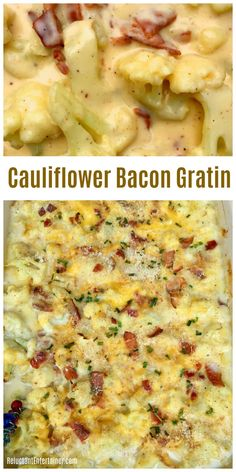 Best Cauliflower Bacon Gratin