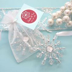 Set of 100 Snowflake Bookmarks for Winter Wedding $82.99 + ship ...