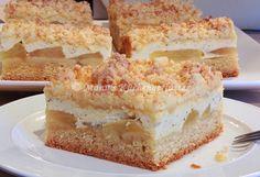 Manus Küchengeflüster: Apfelkuchen mit Marzipanstreuseln und Schmandcreme