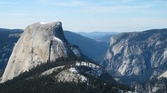 What snow? A winter hike from Yosemite Valley to the far side of Half Dome is a rare venture. Photo: Mark Kushner