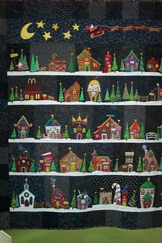 Another version of Welcome to the North Pole...this one has enough buildings for an advent calendar.