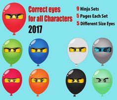 Ninjago eyes 2017  9 sets  All Characters