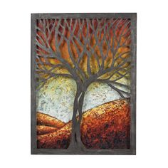 Whitney-Autumn Scene Metal Wall Décor 129-1110