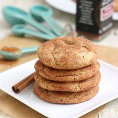 Brown Butter Snickerdoodles by Tracey's Culinary Adventures.