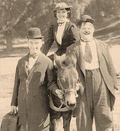Rosina Lawrence and Laurel & Hardy