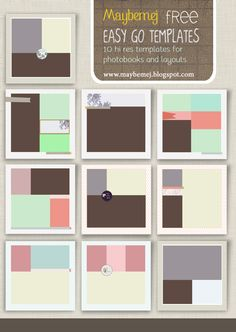 free photo book templates, layouts - photoshop templates from Maybemej Phtoography