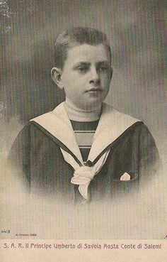 Prinz Umberto von Savoyen, future King Umberto II. of Italy