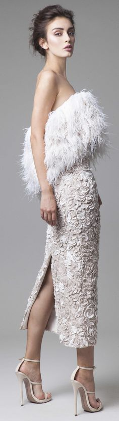 ℳiss Giana's Gorgeous Gowns ♛ ♛ Krikor Jabotian couture 2016 Couture Fashion, Runway Fashion, Fashion Trends, Krikor Jabotian, Vogue, White Fashion, Beautiful Gowns, Designer, Catwalk