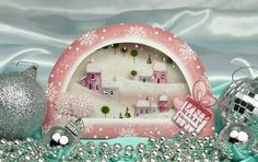 Darling...A Sparkling Season: Snow-Globe Box Card.                       Wow!  How about this one Kay?