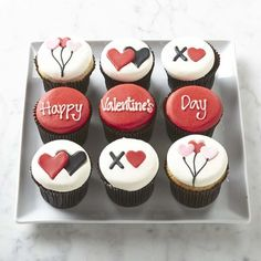Valentine's Day Cupcakes #williamssonoma