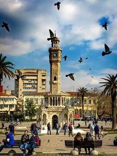 izmir saat kulesi, Clock Tower Konak Square Izmir Turkey