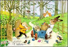 """Alenquerensis: The """"World"""" of Fritz Baumgarten April Easter, Easter Art, Baumgarten, Spring Images, Elves And Fairies, Children's Picture Books, Vintage Easter, Vintage Kids, Fairy Art"""