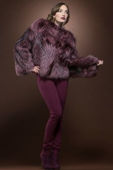 Raspberry Fox and Ranch Mink Fur Bolero