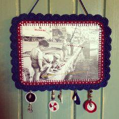 Vintage postcard crochet Hula, Crochet, Vintage, Frames, Ganchillo, Vintage Comics, Crocheting, Knits, Chrochet