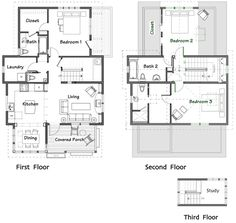 A Twostorey Bedroom Home Fitting In An Square Meter - House design 80 sqm