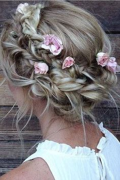 Best Wedding Hairstyles With Braids Boho Updo Ideas Flower Girl Hairstyles, Boho Hairstyles, Pretty Hairstyles, Hairstyle Ideas, Makeup Hairstyle, Hair Updo, Summer Hairstyles, Perfect Hairstyle, Layered Hairstyles