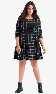 Womens Fashion Casual Summer, Office Fashion Women, Black Women Fashion, Womens Fashion For Work, Plus Size Dresses, Plus Size Outfits, Plus Size Womens Clothing, Size Clothing, Tee Dress