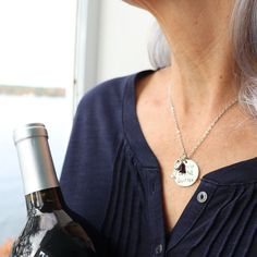 Wine lovers rejoice! We have new styles just for you that will complete your wine jewelry collection. These pieces have multiple charms that celebrate the joys of wine and can even be personalized! How perfect is that! Costume Necklaces, Engraved Necklace, Flower Bracelet, Jewelry Collection, Charms, Bangles, Lovers, Wine, Boho