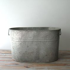 Vintage Galvanized Tub