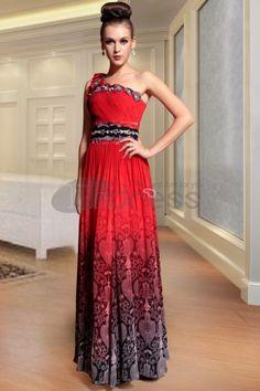 Abiti in Magazzino-trasporto libero una spalla splendidi rossi lunghi abiti da sera per le donne