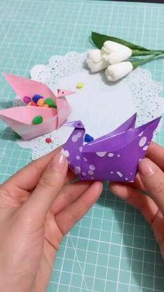 Diy Crafts Hacks, Diy Crafts For Gifts, Creative Crafts, Diys, Instruções Origami, Origami Simple, Origami Ideas, Paper Crafts Origami, Paper Crafts For Kids