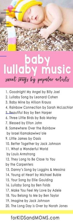 Baby Lullaby Music 20 Sweet Songs from Modern Popular Artists lullaby playlist modern lullabies via Kids and Moms baby list, nursery list, lullabies for baby, music for baby Lullaby Songs, Baby Songs, Baby Music, Music For Babies, Music For Young Children, Baby Mine, Mom And Baby, The Babys, Bb Reborn